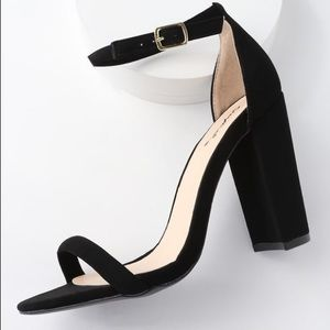 Cute, stylish ankle strapped heels.